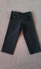boys smart black trouse hand made approx age 4-5  5-6 years school trousers