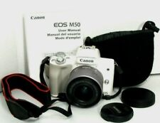 Canon EOS M50 24.1MP Mirrorless Digital Camera w/15-45mm Lens.