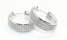9CT HALLMARKED POLISHED WHITE GOLD STARSHINE 22MM X 17MM OVAL HOOP EARRINGS
