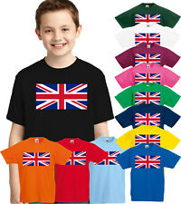 UNION JACK KIDS T-SHIRT, UK FLAG BRITAIN CHILDREN BOYS GIRLS UNISEX TEE TOP