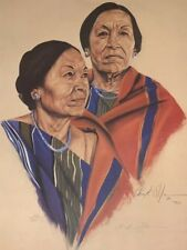 Native American Indian Woman Portrait - Taos - Western - Hand Signed & Numbered