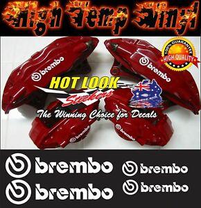 Brembo x4 EVO Brake Caliper Hi Temp Vinyl Decals Stickers Suit
