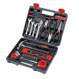 "Hilka 45pc Tool Kit 1/4"" Ratchet Wrench Socket Pliers Screwdriver Hammer Spanner"