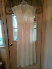 New listing Vintage Cream Long Jolie Two Robe & Nightgown Set size Small