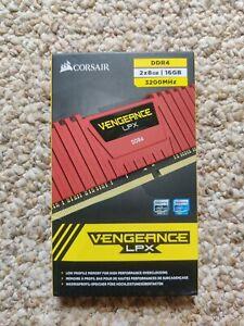 CORSAIR - Vengeance LPX 16GB (2x8) 3.2 GHz DDR4 DRAM Red 3200
