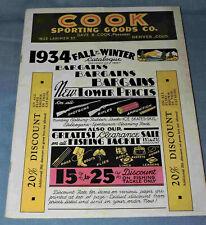 1934 Cook Sporting Goods Catalog from Denver Colorado - C-3342