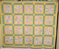quilt sale in r store ! AMAZING DRESDEN PLATE ANTIQUE QUILT NOVELTY PRINTS MINT