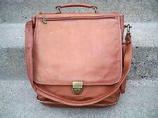 Vtg Made in Colombia Scholar Attorney Leather Shoulder Messenger Lawyer Bag Pack