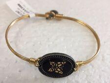 Luca + Danni Stella Golden Butterfly Cameo Stackable Bangle Bracelet Brass New