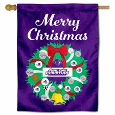 Abilene Christian University Happy Holidays Christmas Decorative House Flag