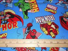 "2 yards Avengers ""Character Toss""  Fabric"