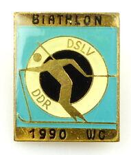 #e5690 DDR - Abzeichen - Anstecknadel Biathlon DSLV 1990 WC Skiläufer-Verband
