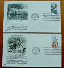 USA 1982 State Birds & Flowers: all 50 on very fine individual FDCs