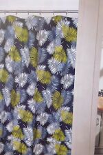 "Westone Home Collection Palm Leaves Fabric Shower Curtain 72"" x 72"" NIP"