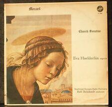 Mozart Church sonatas Eva Hölderlin / Eva Hoelderlin Rolf Reinhardt LP VG++/NM