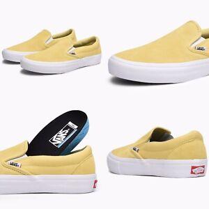 Vans Slip On Pro Dusky Citron Yellow Suede Canvas VN0A347VOUW New Mens sz 8