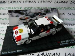 RIT21E voiture 1/43 IXO Altaya Rallye AUDI quattro Suède 1981 Mikkola