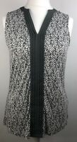 Grey Animal Print Pleat Tunic Top Size 14 T Shirt