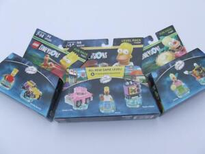 New Lego Dimensions  Homer 71202 / Bart 71211 / Krusty 71227 ( Level Fun Pack )