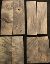 Bookmatched Stabilized Buckeye Burl for Knife Scales, Pistol Grips, etc (2)