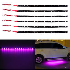 Purple 6pcs 30CM/15 LED Car Motors Truck Flexible Strip Light  Waterproof 12V