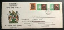 1967 Southerton Rhodesia FDC First Day Cover Dr Leander Starr Jameson To England