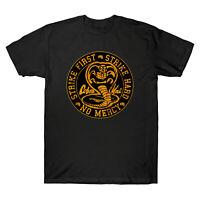 Cobra Kai No Mercy First Strike 80s Movie Retro Vintage Men's Cotton T Shirt Tee