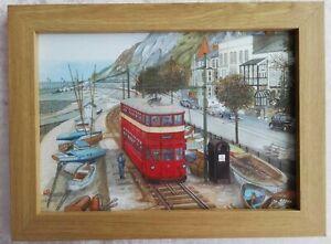 Mumbles Railway at Southend Mumbles - Watercolour Painting - Tony Paultyn