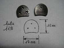 fers à chaussure LULU 119 (paire) 17 mm par 16 mm et semences 10 mm