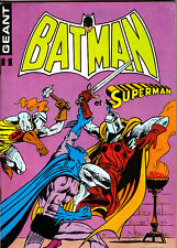 BATMAN ET SUPERMAN GEANT N°11 TRES BON ETAT DE 1978 SAGEDITION