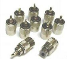 PL259 Male Connector Plugs for RG58 Coaxial Cable x10 for cb ham radio