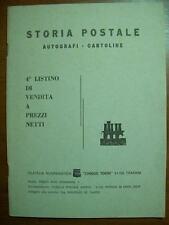 STORIA POSTALE AUTOGRAFI CARTOLINE 4° LISTINO DI VENDITA A PREZZI NETTI ( A12 )