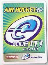 Air Hockey E-Reader Promo Card Nintendo Classic Games GBA