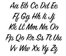 Lettres Alphabet Pochoir écrire en lettres HAUTEUR 2,3 cm art. - Nº 15216