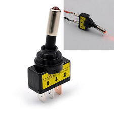 12V 20A auto Auto LED rosso Toggle Rocker Switch 3Pin SPST ON/OFF