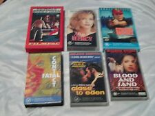 6 VHS VIDEO BLOOD & SAND STRIKING DISTANCE FATAL CONTACT CLOSE TO EDEN NO MERCY