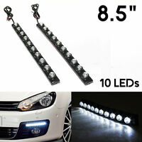 "Set of 8.5"" 12V LED STRIP DRL DAYTIME RUNNING LIGHTS FOG CAR LAMP DAY DRIVING"