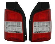 FEUX ARRIERES VW T5 2003-2009 TRANSPORTER MULTIVAN AR BLANC ROUGE CRISTAL