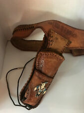 """Western Tooled Leather Hunter Gun Holster and Belt 25 Rounds """"Bud"""""""