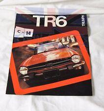 TRIUMPH TR6  BROCHURE