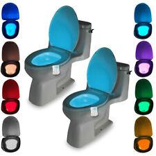 LED Glowbowl Toilet Bowl Night Light Detection Advanced 8-Color Motion Sensor