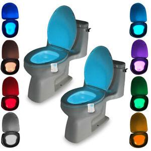Toilet Bowl Night Light Advanced 8-Color LED Motion Sensor Illuminate Lamp