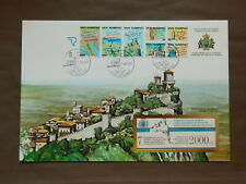 FDC Booklet San Marino 11-06-90 Year of Tourism ( with Booklet MINT in Envelope)