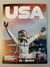 2019 F1 US Grand Prix Program
