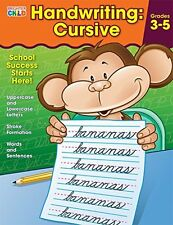 Handwriting: Cursive Workbook Grade 3-5 Student Practice Writing Kids Book New