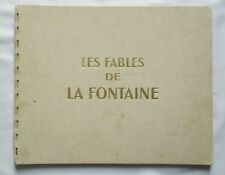 Les fables de la Fontaine / EO 1946 / LEBRET / DARGAUD / CHEQUE TINTIN