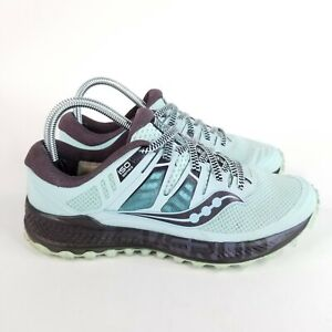 Saucony Women's Peregrine ISO Trail Running Shoe Everun Size 7.5 US Teal Black