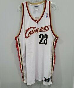 Vintage Reebok Cleveland Cavaliers Lebron James 23 Home White Jersey Mens 56 3XL