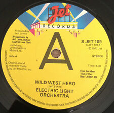 "7"" ELO ELECTRIC LIGHT ORCHESTRA WILD WEST HERO PROMO 1977."