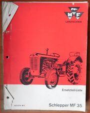 Massey Ferguson Schlepper MF 35 Ersatzteilliste